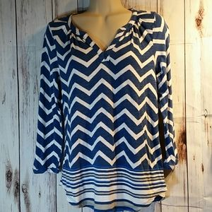 Woman's Lucky Brand blue blouse size S